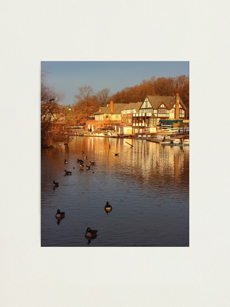 Alternate view of Boathouse Row Philadelphia Photographic Print