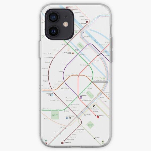 Vienna Metro Map iPhone Soft Case