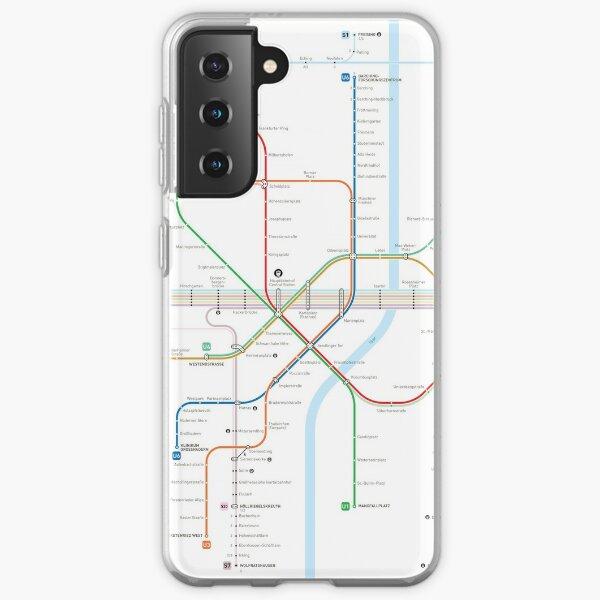 Munich Metro Map Samsung Galaxy Soft Case