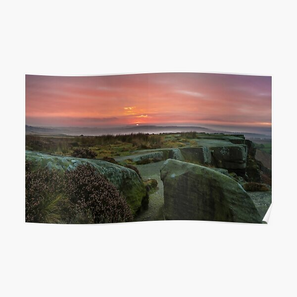 Sun Rise in the Peaks Poster