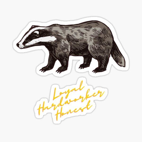 Loyal badger Sticker