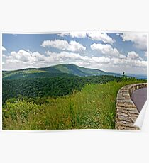 Skyline Drive the BlueRidge Mountains Poster