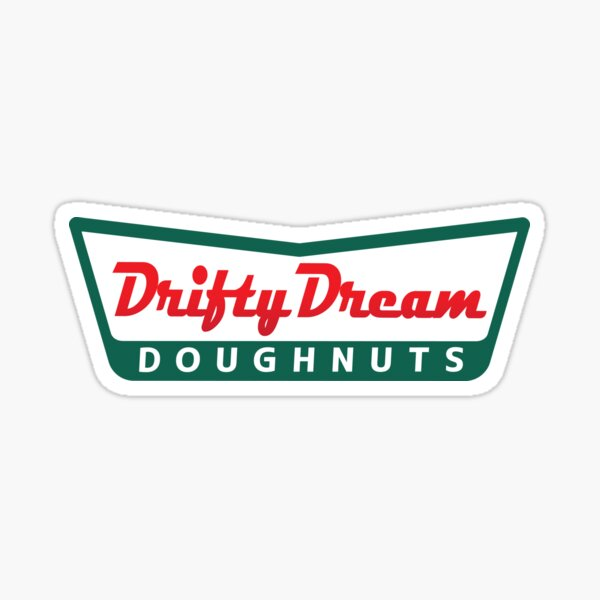 DRIFTY DREAM Doughnuts Sticker