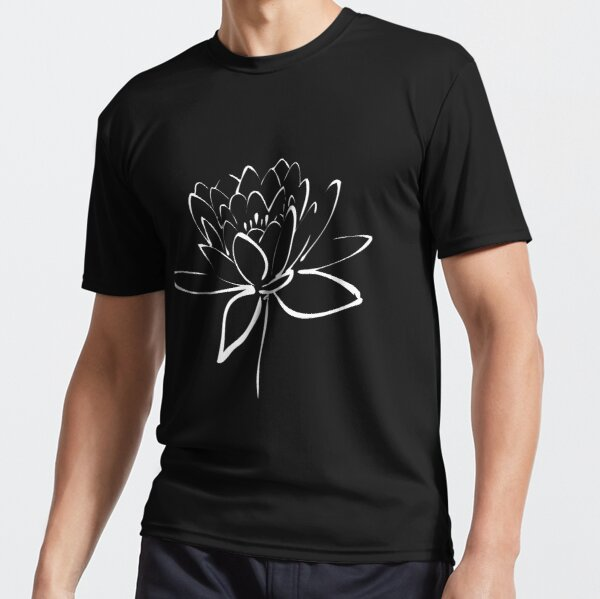 Lotus Flower Calligraphy (White) Active T-Shirt