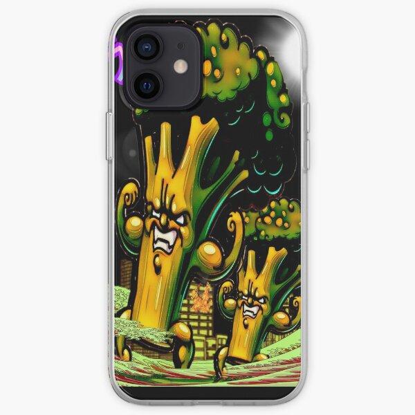 THE BROCCOZILLA, funny Broccozilla City Attack iPhone Soft Case