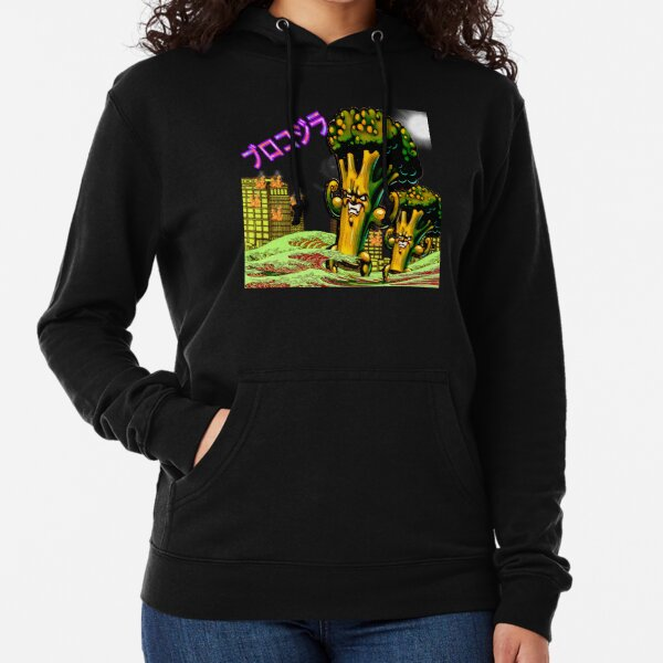 THE BROCCOZILLA, funny Broccozilla City Attack Lightweight Hoodie