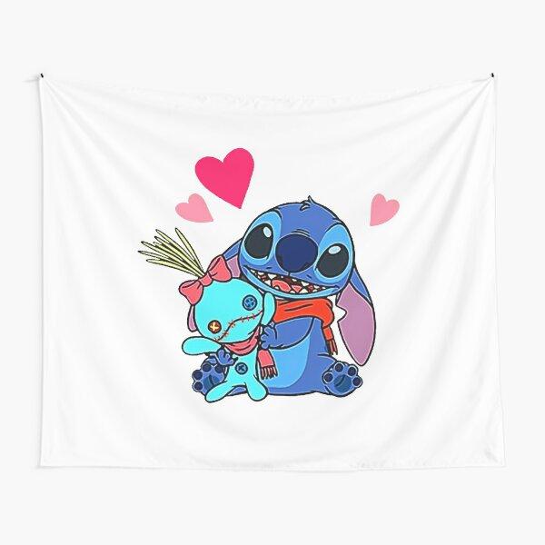 Deseo que te guste Stitch Love Tela decorativa