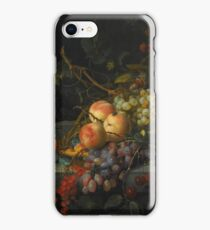 After Jacob van Walscapelle STILL LIFE WITH GRAPES, PEACHES, GOOSEBERRIES, CHERRIES AND HORSE CHESTNUTS iPhone Case/Skin