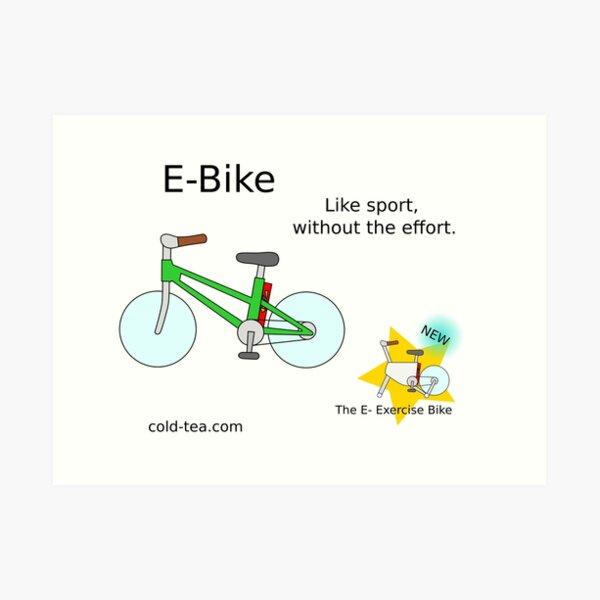 e-bike Art Print