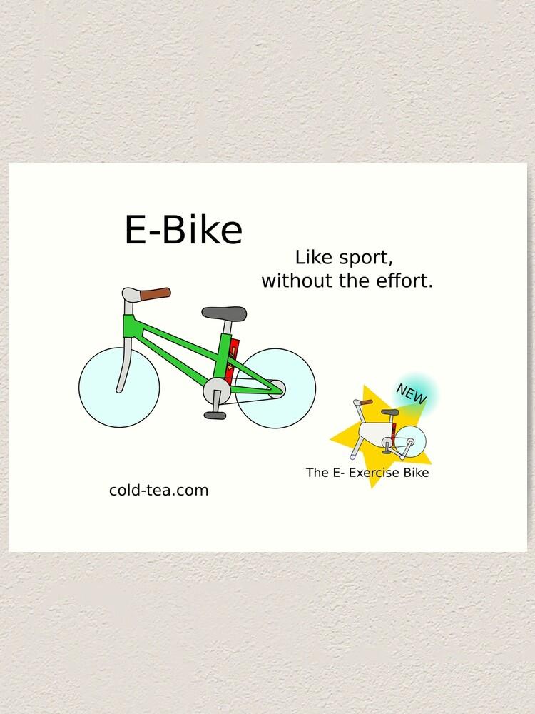 Alternate view of e-bike Art Print