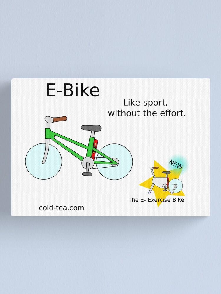 Alternate view of e-bike Canvas Print