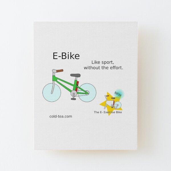 e-bike Wood Mounted Print