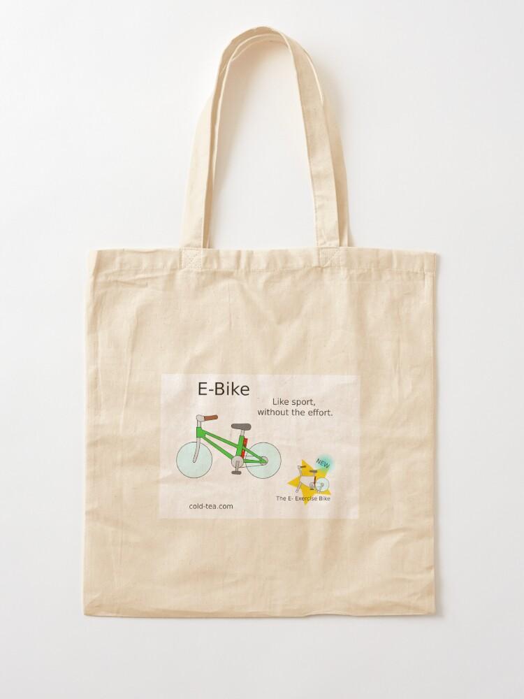 Alternate view of e-bike Tote Bag