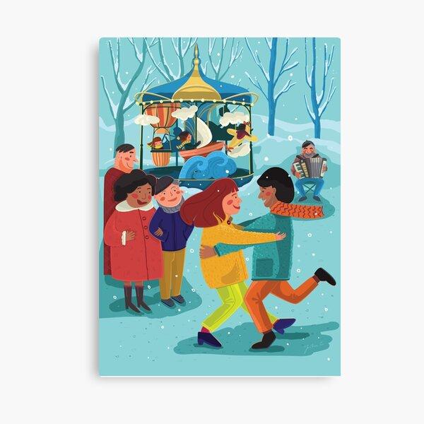 Winter dance Canvas Print