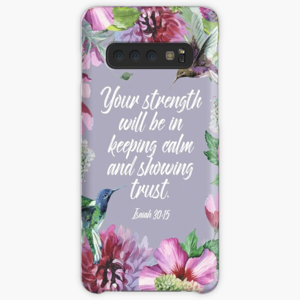 2021 YEARTEXT (Hummingbirds and Flowers) Samsung Galaxy Snap Case