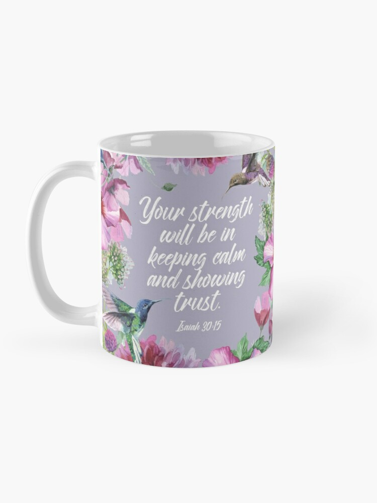 Alternate view of 2021 YEARTEXT (Hummingbirds and Flowers) Mug