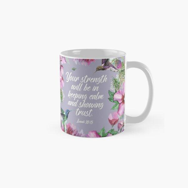 2021 YEARTEXT (Hummingbirds and Flowers) Classic Mug