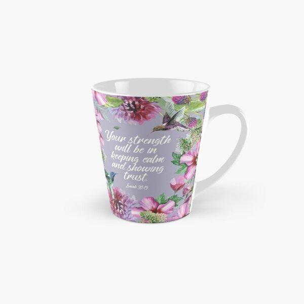 2021 YEARTEXT (Hummingbirds and Flowers) Tall Mug