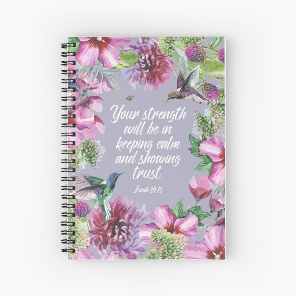 2021 YEARTEXT (Hummingbirds and Flowers) Spiral Notebook