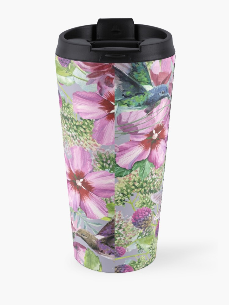 Alternate view of 2021 YEARTEXT (Hummingbirds and Flowers) Travel Mug