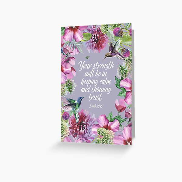 2021 YEARTEXT (Hummingbirds and Flowers) Greeting Card