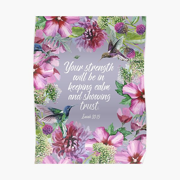 2021 YEARTEXT (Hummingbirds and Flowers) Poster