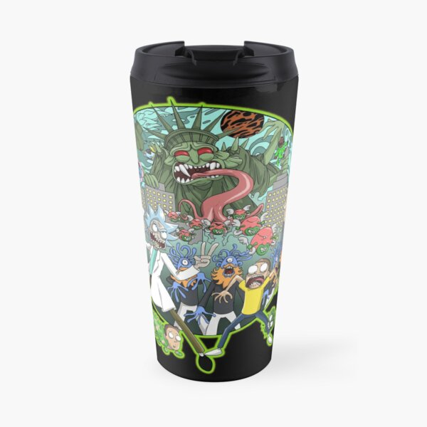 Rick and Morty Earth Dimension C-137 Interdimensional Twist Travel Mug