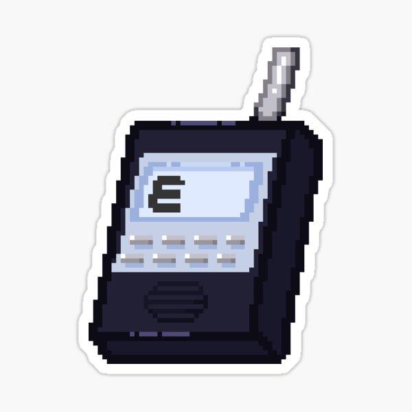 """Phasmophobia Spirit Box """"E"""" Sticker"""