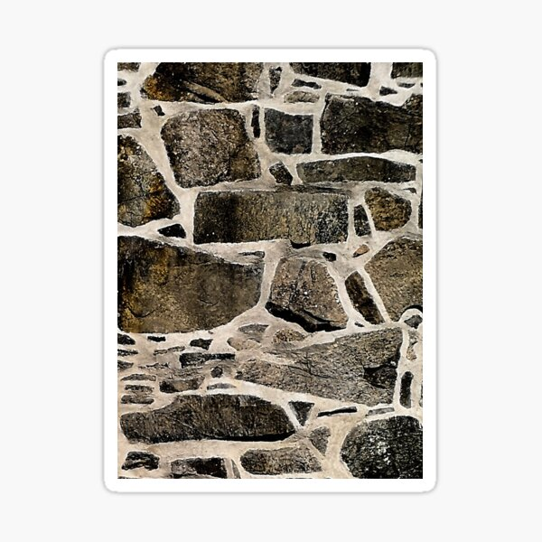 Old stone brick wall  Sticker