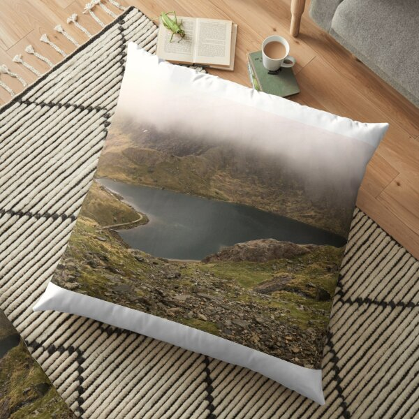Glaslyn, Heart-Shaped Lake in Snowdonia (Larger Image) Floor Pillow