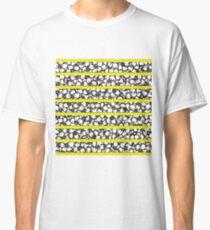 Bold Girly Hand Drawn Flowers on Neon Yellow Classic T-Shirt
