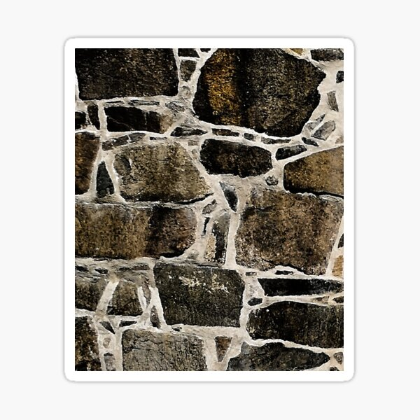 Old stone brick wall II Sticker