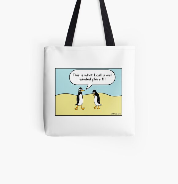 treacherous icy conditions All Over Print Tote Bag