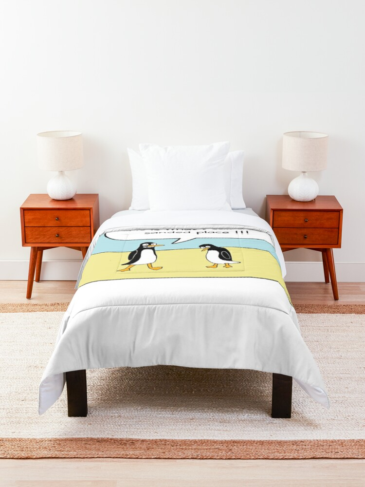 Alternate view of treacherous icy conditions Comforter