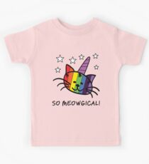 Einhorn Katze UniKitty So Meowgical T-Shirt Kinder T-Shirt