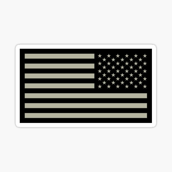 US Army Flag Reverse Sticker