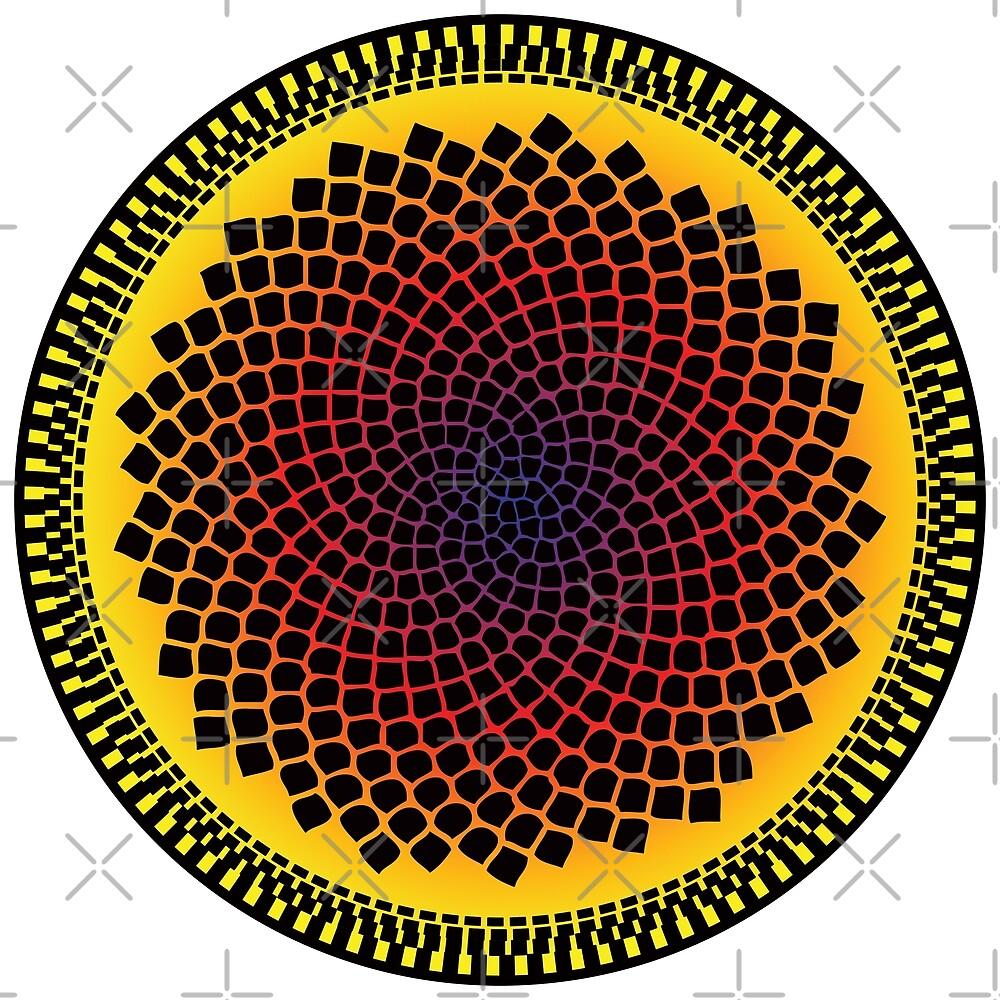 Sonnenblume Fibonacci Fraktale Spirale von thedrumstick