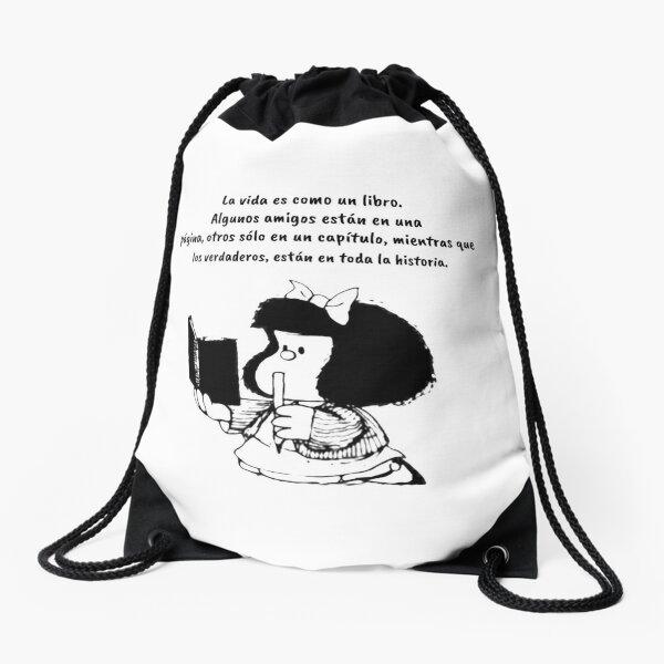 Funny Quotes in Spanish with Mafalda Drawstring Bag