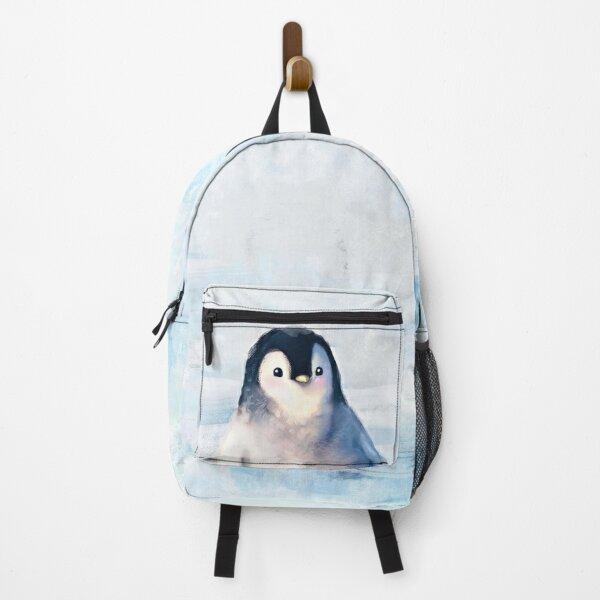Cute Fluffy Penguin Backpack