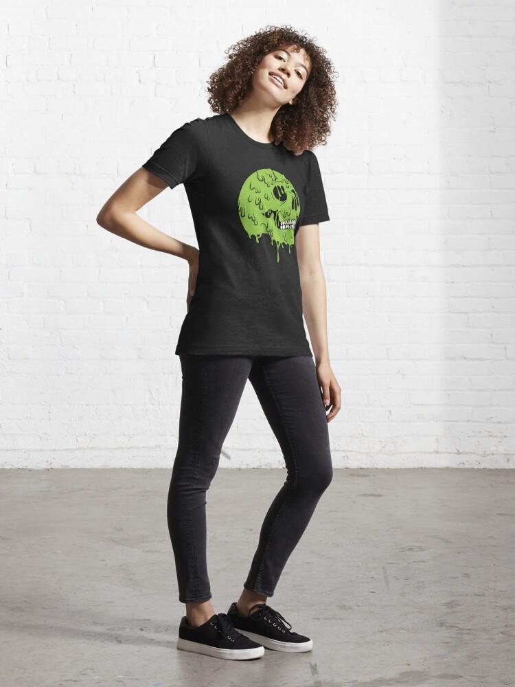 Alternate view of SLIME SKULL Essential T-Shirt