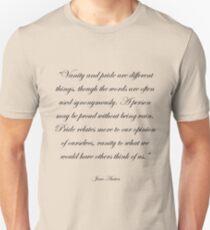 Jane Austen: Pride and Vanity Unisex T-Shirt