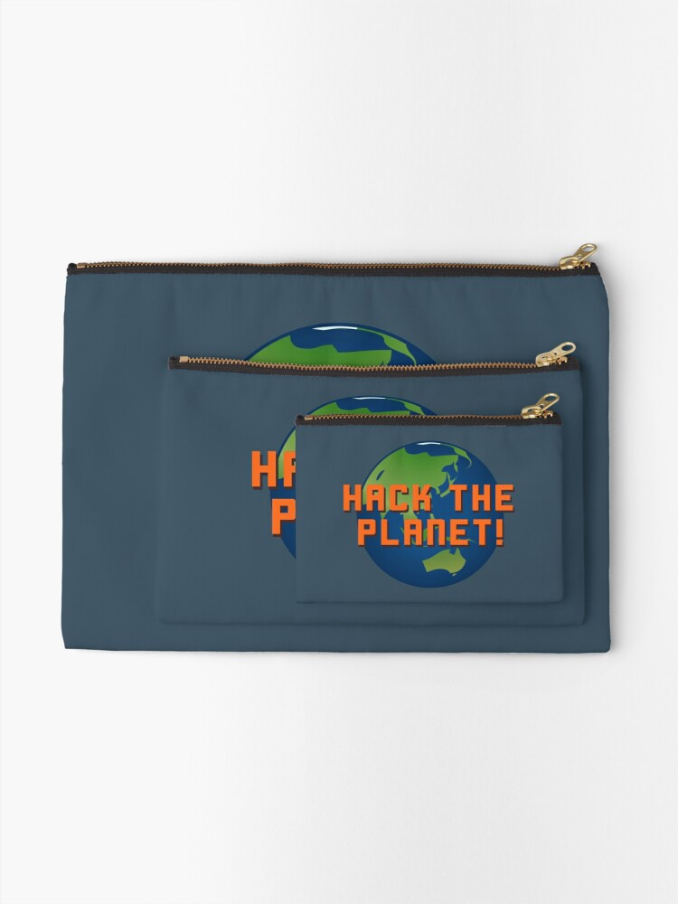 Alternate view of Hack The Planet! - Hackers Design Zipper Pouch