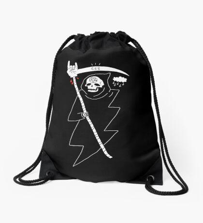 Angel of Death Metal Drawstring Bag