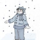 catching snow (colored) by Asia Barsoski