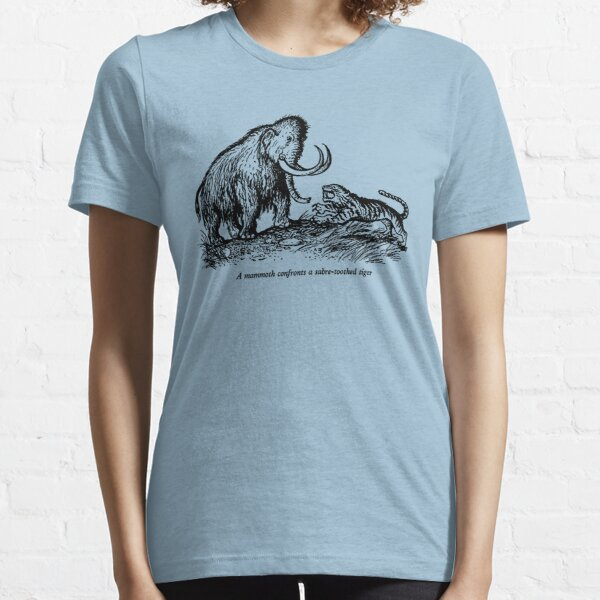 Mammoth confronts a sabre-toothed tiger Essential T-Shirt