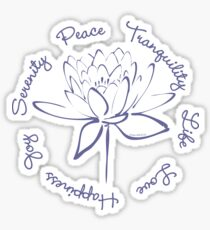 Serenity Tranquility Lotus (Blue) Sticker