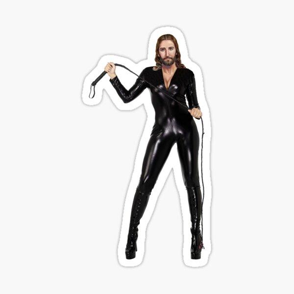 Dominatrix Jesus Sticker
