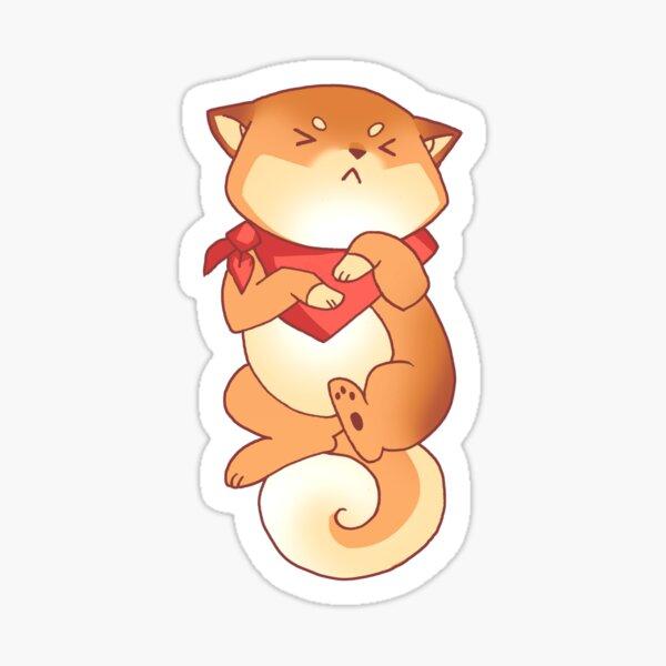 Rude Shiba Dog 5 - Intestinal Distress Sticker