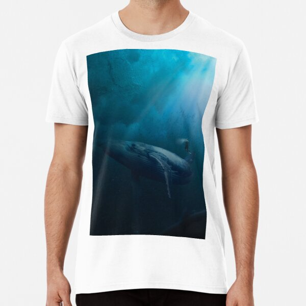 dive with whale  Premium T-Shirt