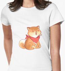 Rude Shiba Dog 4 - Burps Womens Fitted T-Shirt